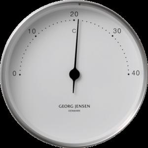 Nerezový teploměr KOPPEL 10 cm, bílý ciferník - Georg Jensen obraz