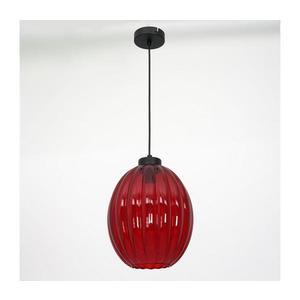 Luminex Lustr na lanku BLICK 1xE27/60W/230V červená obraz