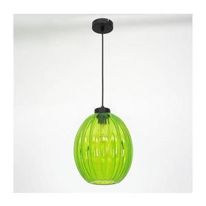 Luminex Lustr na lanku BLICK 1xE27/60W/230V zelená obraz