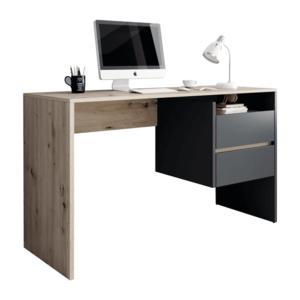PC stůl se zásuvkami TULIO Tempo Kondela Grafit / dub artisan obraz