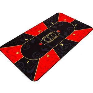 Garthen Skládací pokerová podložka, červená/černá, 160 x 80 cm obraz