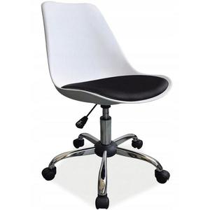 Otáčecí Židle Milano Bílý-Černý obraz
