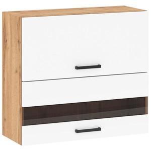 Kuchyňská skříňka Sofia 80 cm, bílá/ dub wotan, G80 2D U obraz