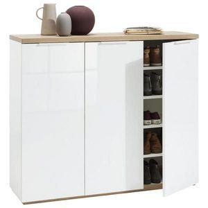 Carryhome BOTNÍK, bílá, barvy dubu, 120/102, 3/35 cm - bílá, barvy dubu obraz