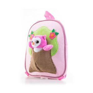 G21 batoh s plyšovou sovičkou, růžový obraz