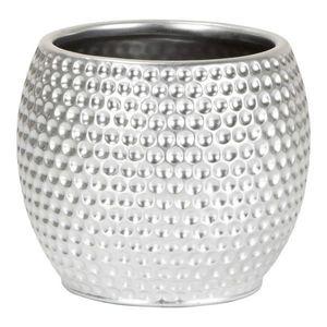 OBAL NA KVĚTINÁČ, keramika - barvy stříbra obraz