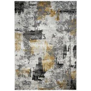 Novel TKANÝ KOBEREC, 133/190 cm, šedá, světle šedá, curry žlutá - šedá, světle šedá, curry žlutá obraz
