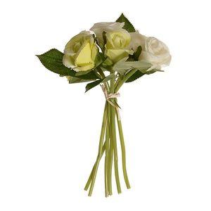 Umělá kytice poupat růže béžová, 22 cm obraz