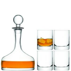 LSA dárkový set Whisky, 4 sklenice (250ml), karafa (1, 6l), čiré obraz