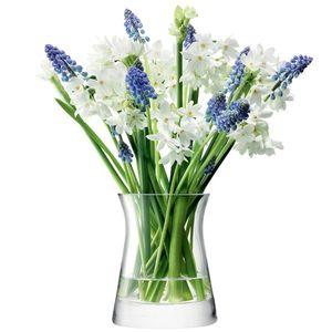 Flower Garden Posy skleněná váza v.13cm čirá, LSA, Handmade obraz