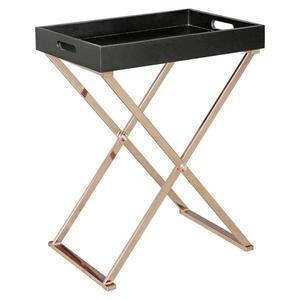 Odkládací stolek Wl5.244 Černý/mědený obraz