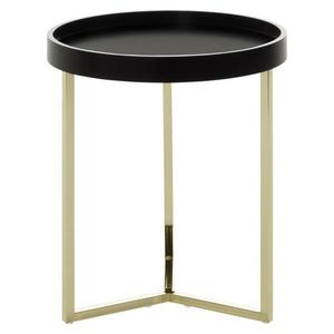 Odkládací stolek Eva Zlatý/černý obraz