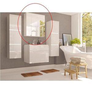 Skříňka se zrcadlem MASON bílá Tempo Kondela Bílá obraz