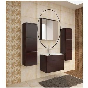 Skříňka se zrcadlem MASON bílá Tempo Kondela Wenge obraz