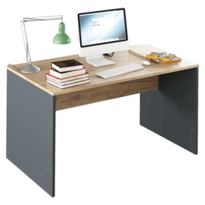 PC stůl, grafit / bílá, Rioma TYP 11 0000185732 Tempo Kondela Grafit / dub artisan obraz