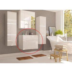 Skříňka pod umyvadlo MASON bílá Tempo Kondela Bílá lesk obraz