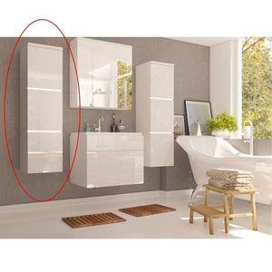 Vysoká skříňka MASON bílá Tempo Kondela Bílá lesk obraz