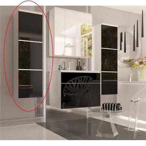 Vysoká skříňka MASON bílá / černá Tempo Kondela obraz