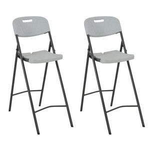 Skládací barové židle 2 ks bílá / černá obraz