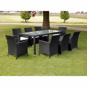 Zahradní jídelní set 17 ks polyratan Černá obraz