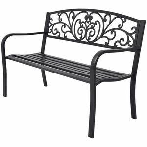 Litinová zahradní lavička černá obraz