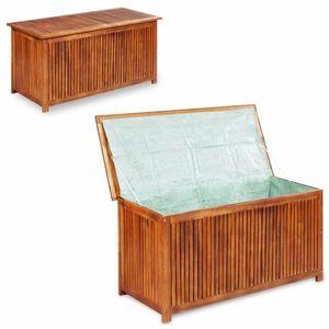 Zahradní úložný box akáciové dřevo obraz