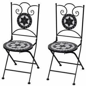 Zahradní skládací židle 2 ks Černá obraz