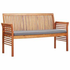 Zahradní lavice 150cm akáciové dřevo Dekorhome Šedá obraz
