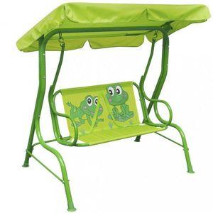 Dětská zahradní houpačka Dekorhome Zelená obraz
