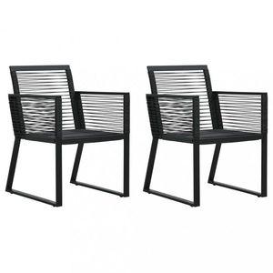 Zahradní polyratanové židle 2 ks černá Dekorhome obraz