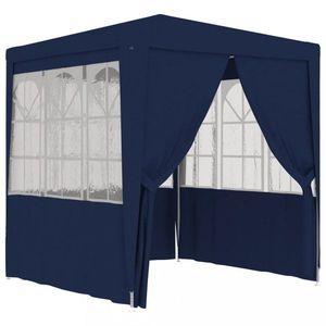 Zahradní party stan s bočnicemi 2 x 2 m Dekorhome Modrá obraz