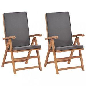 Zahradní židle 2 ks teakové dřevo Dekorhome obraz