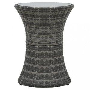 Zahradní odkládací stolek polyratan Dekorhome Šedá obraz