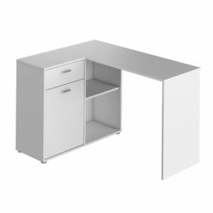 PC stůl rohový KALIMERO Tempo Kondela Bílá obraz
