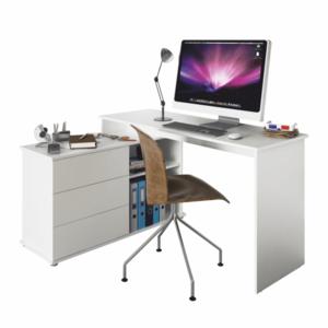 Rohový PC stůl TERINO Tempo Kondela Bílá obraz