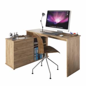 Rohový PC stůl TERINO Tempo Kondela Dub obraz
