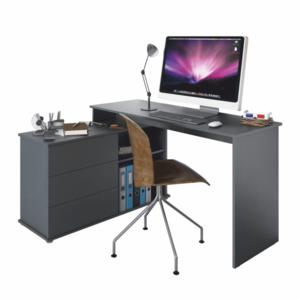 Rohový PC stůl TERINO Tempo Kondela Grafit obraz
