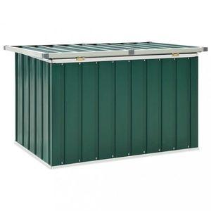 Zahradní úložný box pozinkovaná ocel Dekorhome Zelená obraz
