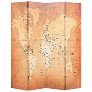Paraván mapa světa Dekorhome 4 obraz