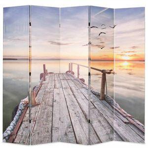 Paraván jezero Dekorhome 5 obraz