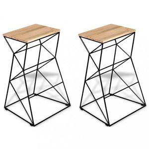 Barové židle 2 ks hnědá / černá Dekorhome obraz