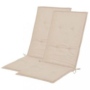 Voděodolné podušky na zahradní židle 2 ks Dekorhome Krémová obraz