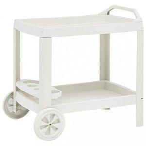 Nápojový vozík plast Dekorhome Bílá obraz