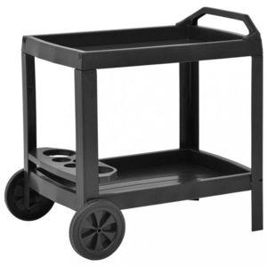 Nápojový vozík plast Dekorhome Antracit obraz