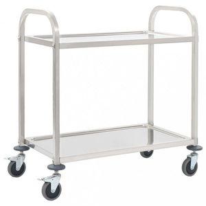 Kuchyňský vozík nerezová ocel Dekorhome 87x45x83, 5 cm (2 police) obraz