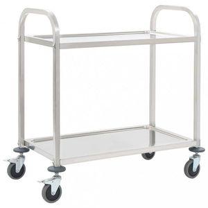 Kuchyňský vozík nerezová ocel Dekorhome 107x55x90 cm (2 police) obraz