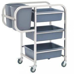 Kuchyňský vozík s boxy nerezová ocel / plast Dekorhome obraz