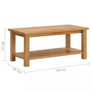 Konferenční stolek masivní dubové dřevo Dekorhome 90x45x40 cm obraz