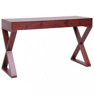 Psací stůl masivní mahagonové dřevo Dekorhome Hnědá obraz