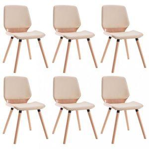 Jídelní židle 6 ks Dekorhome Krémová obraz